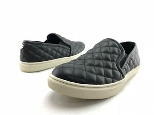 d9797e4a6dc Steve Madden Ecentrcq Women s Black Slip On Fashion Sneakers US 8 M ...