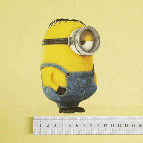 Disney Pixar Minions Crafting Material 100/% Cotton Fabric Fat Quarters// Metres