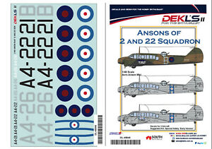 1-48-Decal-Ansons-of-2-and-22-Squadron-RAAF-DEKL-039-s-II