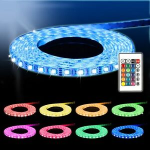 strip stripe leiste streifen band fernbedienung netzteil 5m led rgb 3528 smd ebay. Black Bedroom Furniture Sets. Home Design Ideas