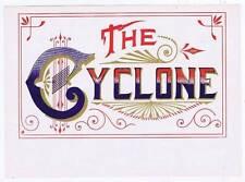The Cyclone, original inner cigar box label, typography