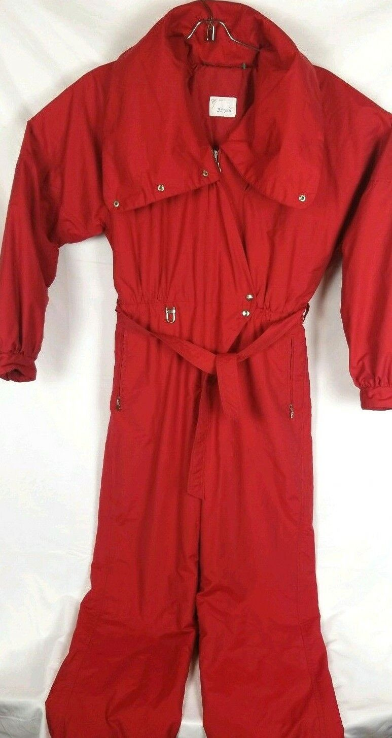 BOGNER damen rot One Piece SKI Winter Suit damen Größe 12
