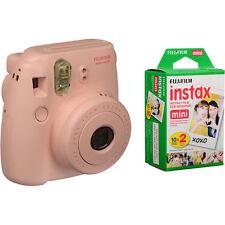 SPECIAL BUNDLE Fujifilm Instax Mini 8 PINK Instant Camera inc TWIN PACK 20 SHOT