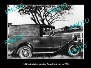 OLD-8x6-HISTORIC-PHOTO-OF-ABC-RADIO-VAN-AUSTRALIAN-BROADCASTING-COMMISION-1920s
