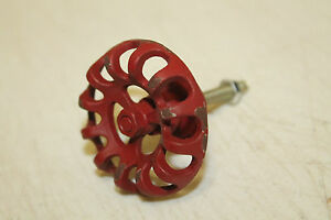 Industrial Cast Iron Valve Handle Red #2 drawer pull knob