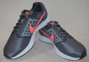 Nike Women's Downshifter 7 Grey/Lava Glow Running Shoes-Asst Size NWB WIDE 2E