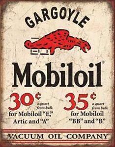 Mobil-Oil-Gargoyle-Vintage-Style-Metal-Signs-Gas-Pump-Garage-Man-Cave-Texaco