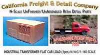 Industrial Transformer-flat Car Load 1pc N/1:160-scale Cal Freight & Details Co
