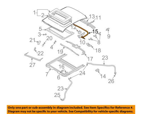 lh MR523028 sunroof drive motor New Genuine OEM Par MR523028 Mitsubishi Cable