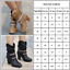 Womens-Ladies-Knee-High-Boots-Winter-Flats-Buckle-Zip-Up-Heels-Shoes-Size-Casual thumbnail 4
