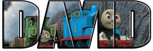 Thomas The Tank /& Friends Personalized Name Custom Decal Wall Sticker Train WP72