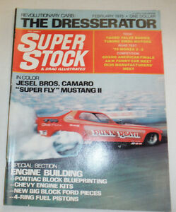 Super Stock Magazine Jesel Bros Camaro Super Fly Mustang February 1975 030215r