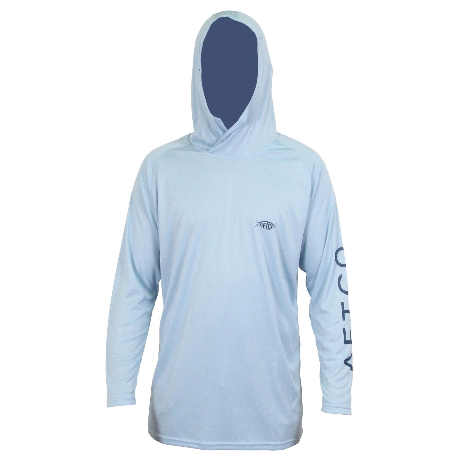 AFTCO Samurai Sun Predection Hoodie-Fishing Shirt-UPF 50- Sky bluee-Free Shipping