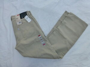 NWT-MENS-LEVIS-559-RELAXED-STRAIGHT-FIT-TWILL-PANTS-58-00559-0369-KHAKI