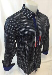 Mens-HOUSE-of-LORDS-Designer-Woven-Dress-Shirt-Geometric-Diamonds-Cotton-2019