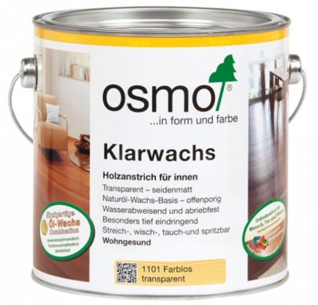 OSMO 1101 Klarwachs Farblos 2,5 Liter
