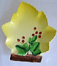 Vintage Carlton Ware Maple Leaf Plate with Currants Australian Design