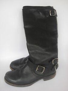 8823e506af83 FRYE womens Veronica Back Zip BOOTS Black Vintage Leather western ...