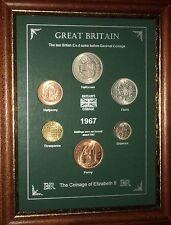 Conjunto de 1967 monedas año enmarcado (Retro 50th Regalo de Cumpleaños Boda Aniversario Regalo)