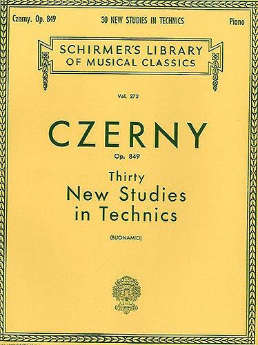 Carl Czerny Thirty New Studies In Technics Op 849 Learn Piano Music Book Study