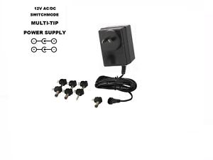 12V 2500MA AC/DC POWER SUPPLY 12 VOLT 2.5 AMP 2.5A 2500 MA WALL ADAPTER 240V