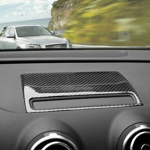 For Audi A3 8v 2013 16 Carbon Fiber Console Navigation Frame Decal Cover Trim 652042450154 Ebay