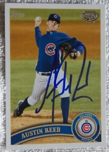 Chicago Cubs Austin Reed Signed 2011 Topps Pro Debut Card Auto Ebay