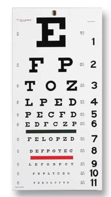 Pt 8502 Snellen Eye Chart By Moore Medical For Sale Online Ebay