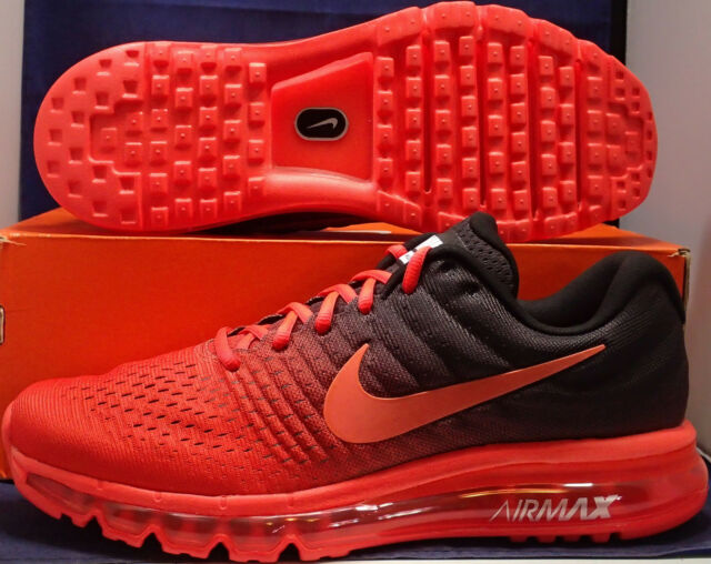 Nike Air Max 2017 Bright Crimson Total Crimson Black SZ 13 ( 849559 600 )