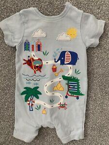 Trempé Boy's Animal Summer Babygrow Ange - 3-6 Mois-bluezoo Debenhams-afficher Le Titre D'origine