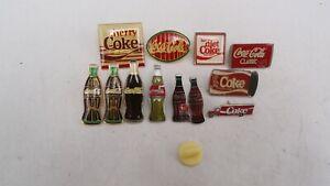 Lot Of 12 Vintage Diet Cherry Coca-Cola Coke Bottle Soda Hat Lapel Pins *READ*