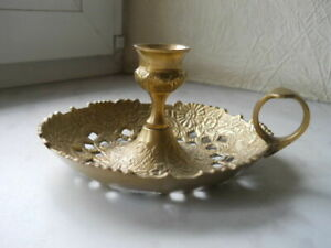 New Candlestick Brass Vintage Gifts Beautiful Candle Holder Table  Made in India