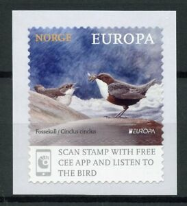 Norway-2019-MNH-National-Birds-Europa-Dipper-Dippers-1v-S-A-Set-Stamps