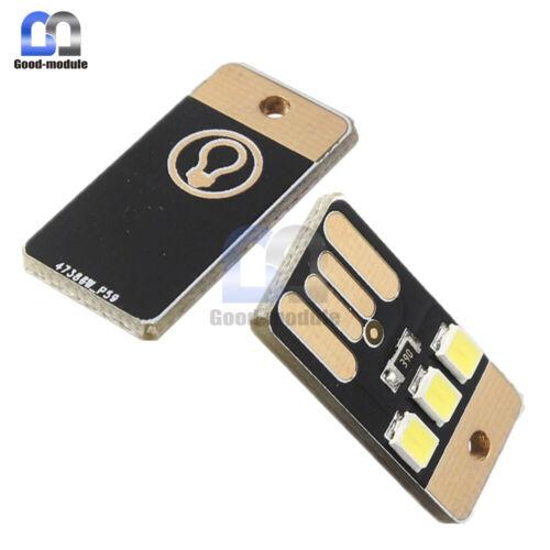 5PCS Mini LED Pocket Card Lamp Bulb Led Keychain Night Light USB Power White