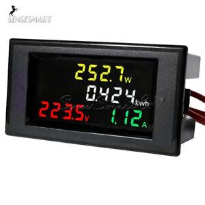 AC-80-300V-100A-CT-LCD-Digital-Voltmeter-Ammeter-Volt-Amp-Power-Kwh-Panel-Meter