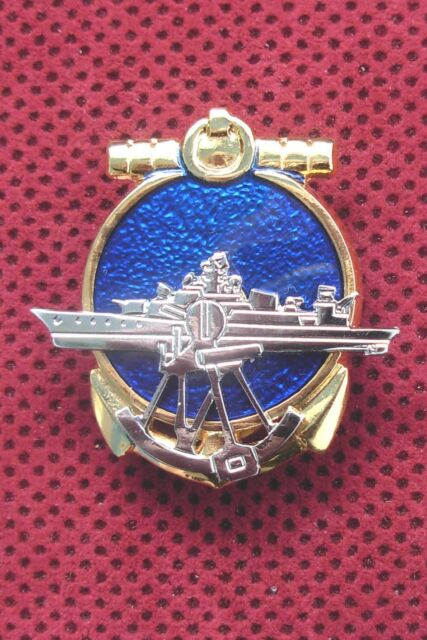SRJ YUGOSLAVIA - YUGOSLAV ARMY - WAR SHIP BREAST BADGE