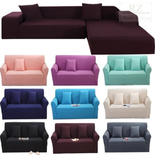 HOT 1 2 3 4 Seater L Shape Stretch Chair Loveseat Hoom Sofa Couch Protect Cover