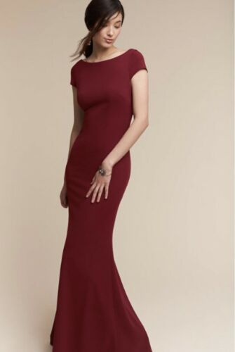 NEW $280 BHLDN Katie May Madison Dress Gown in Bordeaux
