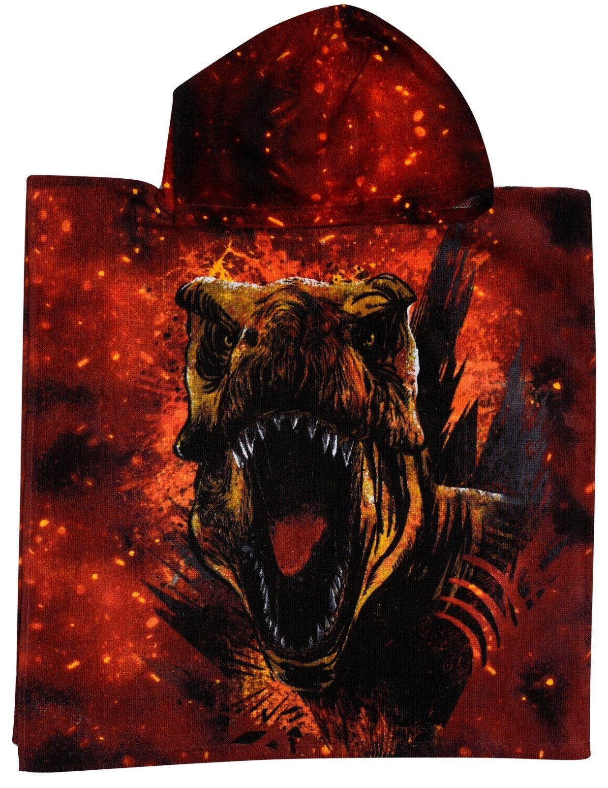 Official Jurassic World Fallen Kingdom Cotton Poncho Hooded Towel Raptor T Rex