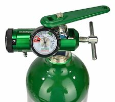 Mini Oxygen Regulator CGA-870 Gauge Flow Rate 0-15lpm with Wrench Fits Any Tank