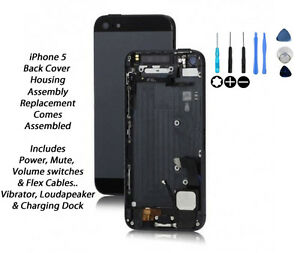 NEW-iPhone-5-Back-Cover-Housing-Assembly-Replacement-Pre-Assembled-BLACK