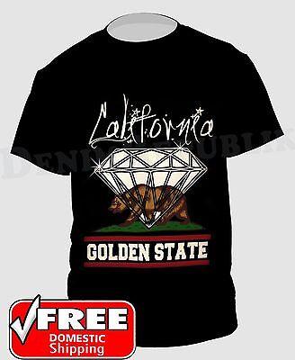 Black Men/'s California The Golden State T Shirt