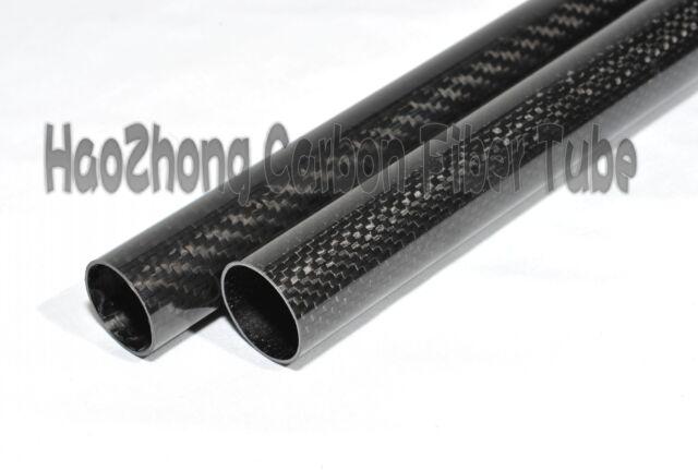 3k Fibra De Carbono Tubo Largo 1m Od 16 Mm De 18 mm 20 mm 22 mm 24 Mm 25 Mm 26mm 27 28mm 30mm
