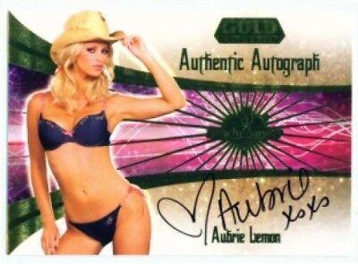 "AUBRIE LEMON /""SILVER PARALLEL #H96/"" BENCHWARMER GOLD 2007"