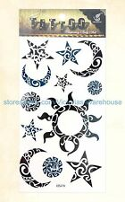 US Seller- temporary body tattoo native American sun moon star temporary tattoo