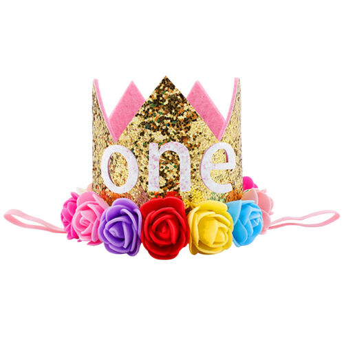 Infant Baby Girls Princess 1st//2nd Birthday Party Crown Headband Hair Accessory