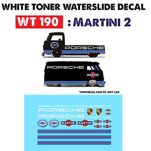 Wt190 White Toner Waterslide Decals Martini 2 For Custom 1 64 Hot Wheels Ebay