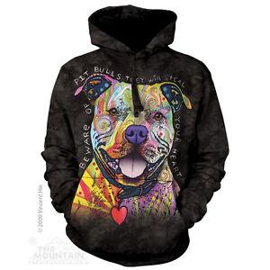6d237648 Beware Of Pit Bulls Sweatshirt Hoodie by The Mountain. Dog pet Sizes ...