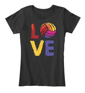 Love-Volleyball-Women-039-s-Premium-Tee-T-Shirt