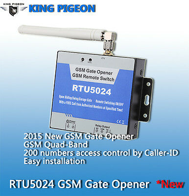 2G SMS GSM Door Gate Opener Wireless Access Free Call Remote Control 4 Band
